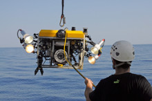 Gavin Newman's remotely operated filming vehicle