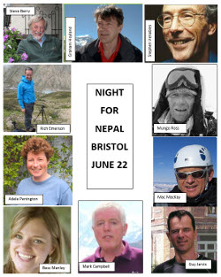 Night for Nepal, provisional speakers